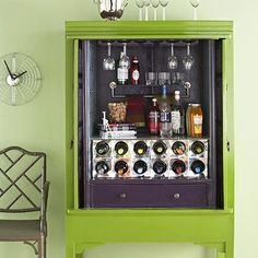 Diy Home Bar Cabinet Armoire thought we could do something like this with your - 27 Elegant Diy Bar Cabinet Concept Armoire Bar, Home Bar Cabinet, Antique Armoire, Drinks Cabinet, Liquor Cabinet, Cabinet Storage, Storage Rack, Liquor Storage, Cabinet Plans