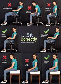sit correctly