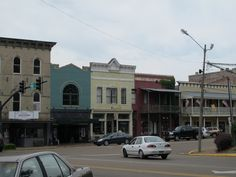 Part of the square in Vicksburg, Mississippi.
