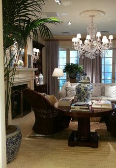 At Ralph Lauren home, Madison Avenue, New York City- like furniture placement.