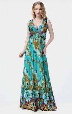 02352cfd6e8 2017 Ladies Dresses Green Dresses Boho Bohemian Floral Maxi Dress Beach  Women Summer Dress Long Sundress Plus Size xxxl