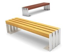 Steel And Wood Bench DEACON Deacon Collection By CITYSI | Design GIBILLERO  Design