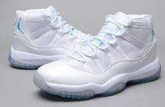 Billig Nike Air Jordan 11 Retro Basketball Schuhe Blau Weiß für 75.95 bei nikebasketballschuhe.com