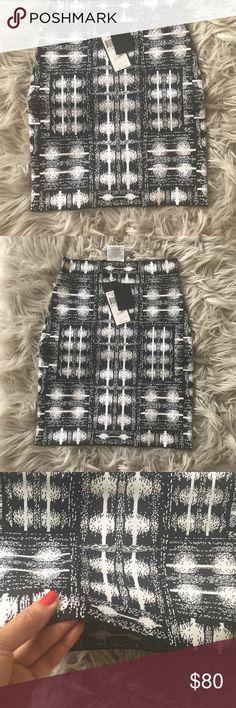 BCBG bandage skirt Black & white bandage skirt BCBG Skirts Mini
