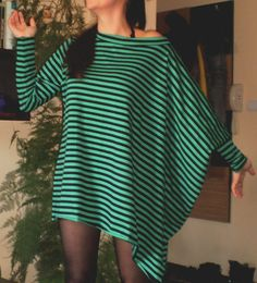 Tunic Long Jersey Asymetric Tunic Casual Mini Dress