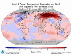 November 2013 the hottest on record since they started recording temps...in 1880....