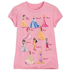 Disney Princess Tee for Girls | Disney StoreDisney Princess Tee for Girls - Behold a royal procession of all 10 official Disney Princesses on this elegant tee for girls. Glittering gowns and full-color screen art dare to make fashion dreams come true for any little maid.