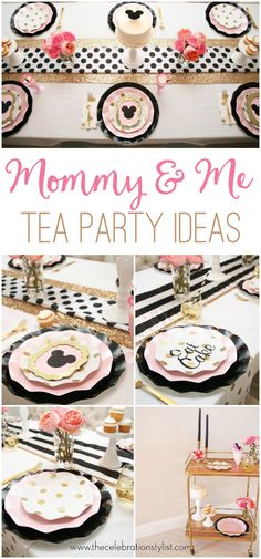 Mommy and Me Tea Party Ideas #partyideas #party #entertaining #teaparty #mothersday #ideas #decorations #decor #tablesettings #tablescape
