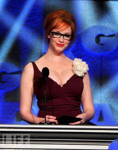 Goddamn!!!! Christina Hendricks in glasses