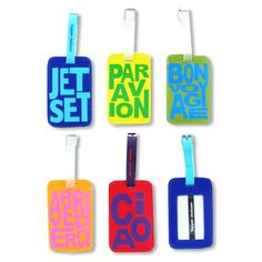 Bright luggage tags - you can never have too many of these on your checked bags