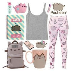 """""""#PVxPusheen"""" by metalhippieprincess ❤ liked on Polyvore featuring Pusheen and claire's"""
