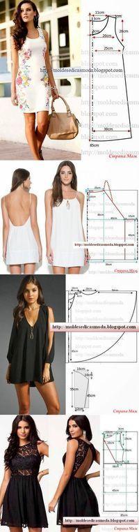 Интересные модели и простые выкройки - 3 (сарафаны и платья) - Шитье - Женский Мир   мне нравиться   Постила