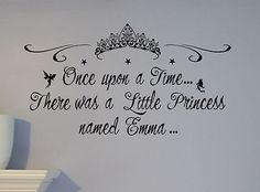 Personalized Name Little Princess Castle Wall Decal Mural Custom Nursery Crown | eBay