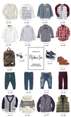 Fall Capsule Wardrobe for Toddler Boys