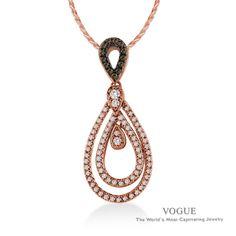 Diamond Pendants | Diamond Pendants in Denver, CO - 3525 DB13/0.07 R68/0.30 14KP  #RoseGold #Diamonds