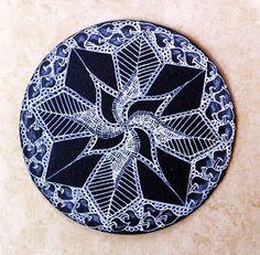 Tangled Ink Art: Black Zendala Tiles