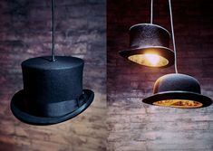 quriky and theatrical hat pendants by jake phipps