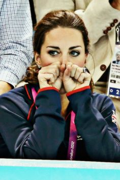Kate Middleton caught just being Kate Middleton - engrossed in a sporting event, London 2012