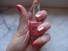 Great Polish & awesome metallic coral pink color *Pure ICE China Girl*