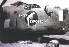 Under Exposed! WWII era, from Hawaii.gov WWII aircraft gallery. http://www.pinterest.com/jr88rules/nose-art-pinup-girls/ #PinupGirls #noseartandvintagepinupgirls