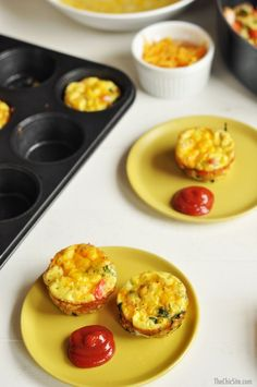 Ham, Potato and Cheese Omelets To Go are made in a muffin tin to make them easier to eat on the go or to take to parties! They're easy and delicious!