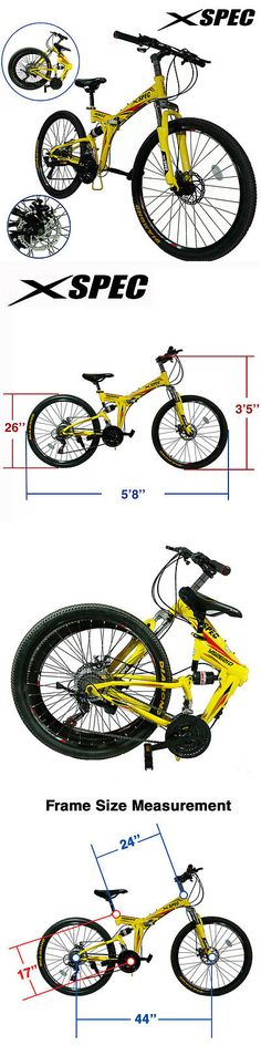 Bicycles 177831: Xspec 26 21 Speed Folding Mountain Bike Bicycle Trail Commuter Shimano Yellow -> BUY IT NOW ONLY: $179.99 on eBay!