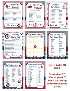 Nautical Baby Shower Game Printable Nautical Game Nautical Shower Game DIY Nautical Game Anchor Baby Shower Game -Printables 4 Less 0062 - Nautical Baby Names - Ideas of Nautical Baby Names - DIY Nautical Baby Shower Games Baby Shower Game by Celebrity Baby Names, Celebrity Babies, Baby Shower Bingo, Baby Shower Printables, Used Baby Items, Anchor Baby Showers, Nursery Rhymes Games, Price Is Right Games, Whats In Your Purse