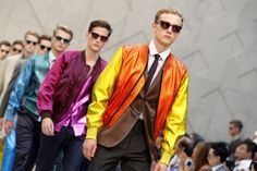 Burberry makes a metallic, colourful statement in its Spring/Summer 2013 collection for men! http://www.luxuryfacts.com/index.php/sections/article/3359