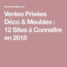 Ventes Privées Déco & Meubles : 12 Sites à Connaître en 2018