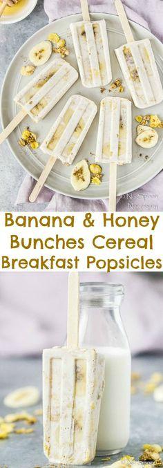 Banana & Honey Bunches Cereal Breakfast Popsicles