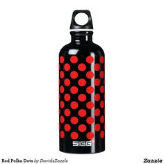Red Polka Dots Water Bottle This design is available on many products! Click the link and hit the 'Available On' tab near the product description to see them all! Thanks for looking!  @zazzle #art #design #polka #dots #water #bottle #drink #sport #athletic #color #circles #shop #gift #buy #sale #men #women #kids #black #white #red #yellow #blue #orange #green #purple #pink #aqua #fun #sweet #cool #awesome