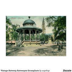 Retouched and restored 1890s Vintage Antwerp Antwerpen Groenplaats posters