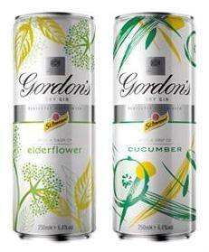 Premixed Gin with Elderflower or Cucumber in the UK from Gordons & @Stefano Romero Schwetz