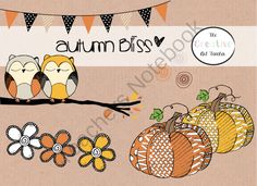 Autumn Bliss Clipart from TheCreativeArtTeacher on TeachersNotebook.com -  (1 page)  - Autumn Bliss Clipart Set