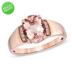 I've tagged a product on Zales: Oval Morganite and Diamond Accent Ring in 10K Rose Gold