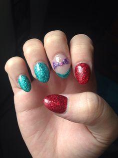 Little mermaid nails!