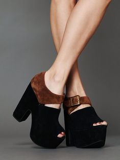 """Want: Free People X Jeffrey Campbell platforms (Um, i'd be 6'3"""" in these!!!) #shoes"""