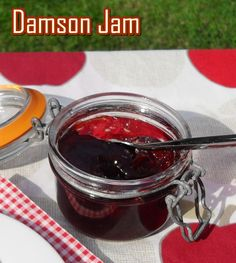 Damson Jam plus my tip for quick pitting! Damson plums are naturally sour and full of pectin which makes them perfect for jam making, enjoy this fab recipe! Plum Jam Recipes, Chutney Recipes, Jam Recipe With Pectin, Damson Jam, Cordial Recipe, Great Recipes, Favorite Recipes, Fruit Jam, Jam And Jelly