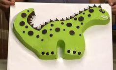 Tarta de cumpleaños de dinosaurio