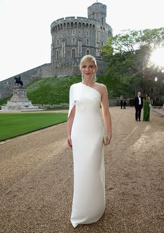 Cate Blanchett arrives for a dinner to celebrate the work of The Royal Marsden hosted by the Duke of Cambridge at Windsor Castle on May 13, ...