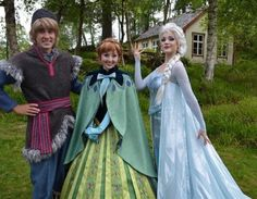 Kristoff, Anna, and Elsa off on a trip!
