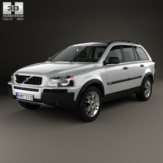Volvo XC90 2002 3d model from Humster3D.com.