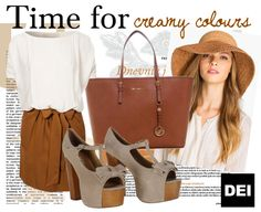 Cream and brown! On www.deifashionstore.com