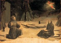 Стигматизация Св. Франциска - Пьеро делла Франческа. 1460 г.  Galleria Nazionale dell'Umbria, Perugia.