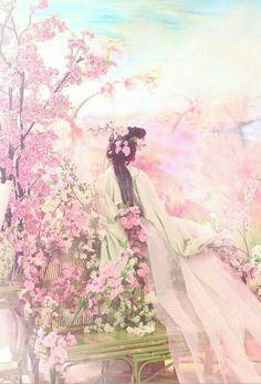 China Art, Anime Art Girl, Anime Girls, Chinese Painting, Ancient Art, Japanese Art, Love Art, Fantasy Art, Concept Art