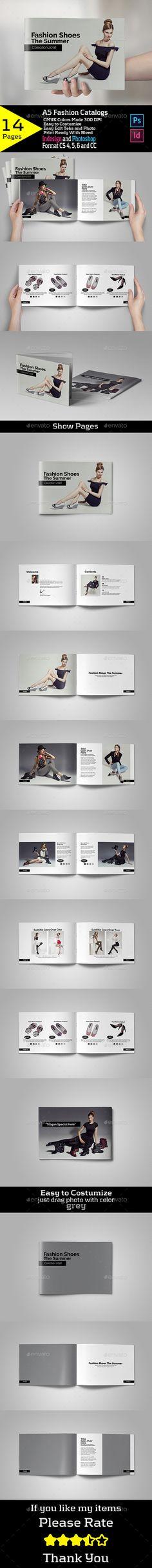 A5 Fashion Catalogs - Brochures Print Templates