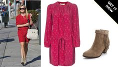 The @Sam Edelman Louie Fringe Booties on Reese Witherspoon.