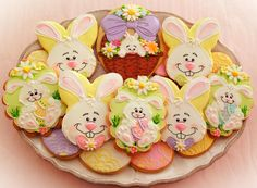 Easter Cookies with Drawn with Character's Images | Cookie Connection