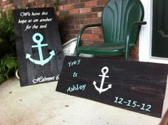 Pallet art/reclaimed wood. Anchor sign