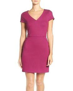 French Connection Size 2 Magenta Purple Lula Ponte Sheath Dress